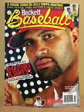 Beckett Baseball Card PLUS Oct/Nov. 2012 Issue #75 Albert Pujols....