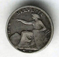 Suiza 1/2 Franco 1851  plata  @ BELLA @