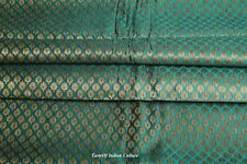 Ethnic Indian Jacquard Brocade Silk Paisley Fabric Craft Sewing By the Yard