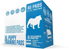 Bulldogology Puppy Pee Pads XL with Adhesive Sticky Tape - Extra Large Dog Train