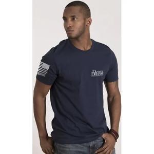 LARGE Navy Nine Line America T-shirt