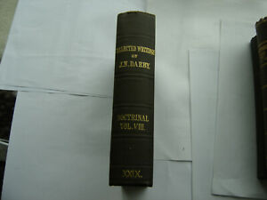 Doctrinal Vol 8 of Collected Writings J.N.D. Darby Plymouth Brethren