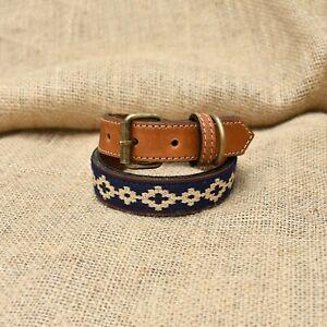 Genuine Leather Dog Collar Adjustable Necklace