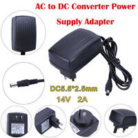 DC14V 2A Adapter AC to DC Converter Power Supply Adapter for Printers/LCD TV/GPS