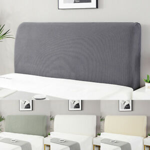 1pc Elastic Bedhead Cover Headboard Bed Head Velvet Protection Cover Bedroom