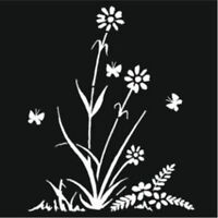 """Creative Expressions - That Special Touch Mask - Stencil 6""""x6"""" Daisy Silhouette"""