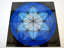 BLUE THROAT Chakra Spirit Board 8inch Cardstock Crystal Healing Grids REIKI