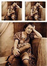 PHOTO STEREO EROTIQUE sur verre NU FEMININ 1920  risque sexy nude lesbian / 313