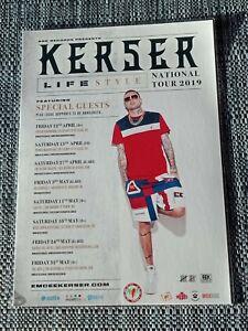 KERSER - 2019 LIFESTYLE Australia Tour - Laminated Promo Poster