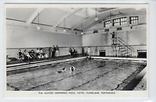 THE HEATED SWIMMING POOL, HOTEL DUNBLANE: Perthshire postcard (C22808)