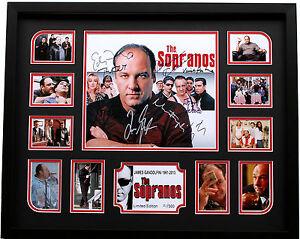 New The Sopranos James Gandolfini Signed Limited Edition Memorabilia Framed