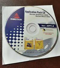 Biostar App Pack CD Ver 1.8 SYMANTEC NORTON ANTIVIRUS 2002 NORTON GHOST 2002