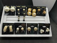 Lot of Vintage Pearl Costume Jewelry Clip On Earrings