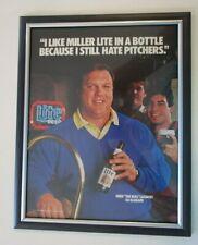 Vintage 1988 Framed Miller Lite Beer Advertising Print