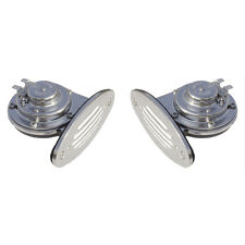 Ongaro Stainless Steel Mini Dual Drop-In Boat Horns High & Low Pitch 12V 106dB