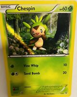 Authentic Chespin Pokemon Card New