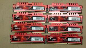 MIX LOT OF 14 G. SKILL RIPJAWS & RIPJAWS X 8GB (8) & 4GB (6) DESKTOP RAM