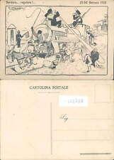 POLITICA-HUMOUR-KRUMIRO-FIENO-SERVIZIO REGOLARE-GENNAIO 1920-TOPPI-OC2-LL02509
