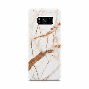 Marble White Gold Mixed Cracked Golden Honey Stone Effect Phone Case Cover