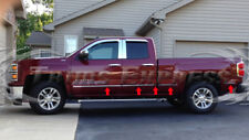 14-17 Chevy Silverado Double Cab 6.8'Short Bed Flat Chrome Body Side Molding 10P