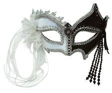 Venetian Mask Black and White NEW - Carnival Mask Face