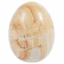 Wood Stone Polished Marble Eggs Decorative Ornament
