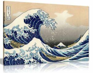 Katsushika Hokusai The Great Wave Off Kanagawa Canvas Wall Art Picture Print