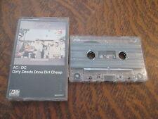 cassette audio AC/DC dirty deeds done dirt cheap