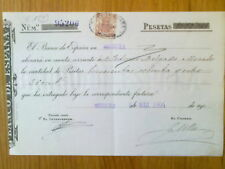 E1-SELLO FISCAL 1904  DOCUMENTO BANCO ESPAÑA MURCIA