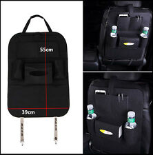 Car Seat Back Multi-Pocket Storage Bag Organizer Holder Accessory Black Cup Hold
