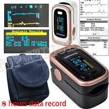 +BagOLED Pulse Oxiemeter SPO2 PR PI ODI4 Sleep Monitor Alarm+Beep+Memory Recall