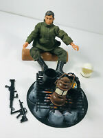 "1970's Mego? Lion Rock Army Action Figure Man 7"" w/ Big Jim Fire Pit"