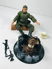 """1970's Mego? Lion Rock Army Action Figure Man 7"""" w/ Big Jim Fire Pit"""