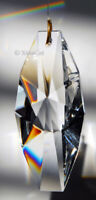 Geometric 63mm Austrian Crystal Clear Prism SunCatcher 2.5 inches