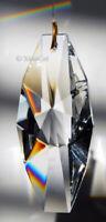 Geometric 63mm Austrian Crystal Clear Prism SunCatcher 2.5 inches