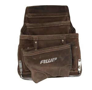 AWP suede 10 Pocket Tool Bag/Pouch/Suede Leather