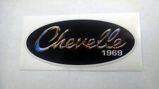"Vintage 1969 Chevelle chrome sticker decal 6""x2.6"""