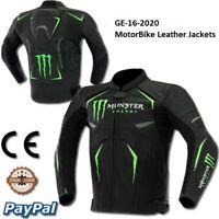 Monster Motorbike Motorcycle Rider Leather Jacket Racing GE-16-2020 (US38-48)