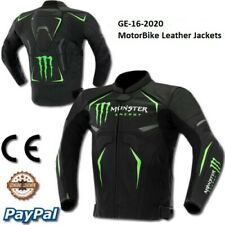 Monster Motorbike Motorcycle Rider Leather Jacket Racing GE-16-2020 (US38-48)