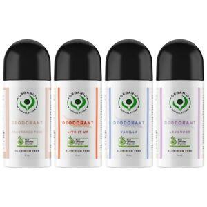 Organic Formulations Roll-On Deodorant 70mL Aluminium Free Gentle Antiperspirant