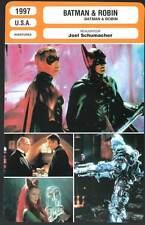 BATMAN ET ROBIN - Clooney,Schwarzenegger (Fiche Cinéma) 1997 - Batman & Robin