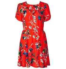 NWT TOPSHOP US Red Floral Print Tea Dress (US 2/ UK 6/ EUR 34) Zebra Red Dress