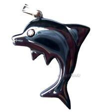 Dolphin Pendant Hematite Black Gemstone Jewellery Haematite Fish