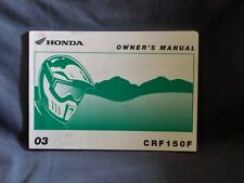 Honda CRF150F OEM Owners Manual 2003 ++ CRF 150 F Factory Fast Shipping
