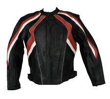 Motorcycle Jacket Leather Motorbike Rider Vents CE Armour Protection Bike Jacket