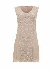 1920's Vintage Flapper Downton Gatsby Charleston Sequin Bead Cocktail Dress 8-16