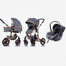 3in1 Kombi Kinderwagen Komplettset Buggy Babywanne Babyschale Autositz Trally® 3