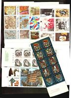 SWEDEN SVERIGE lot of 6 booklets MNH and 5 FDC covers Map Slania vikings fauna