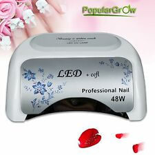 Populargrow 48W UV LED&CCFL Nail Lamp Gel Nail Polish Dryer Light Curing Tool