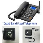 Hands-free Landline Telephone Dual SIM Card FM Radio GSM Fixed Radiophone Black.